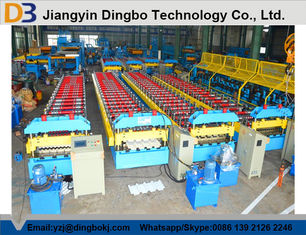 Chain Drive System Roof Panel Roll Forming Machine With Cr12 Metal Steel